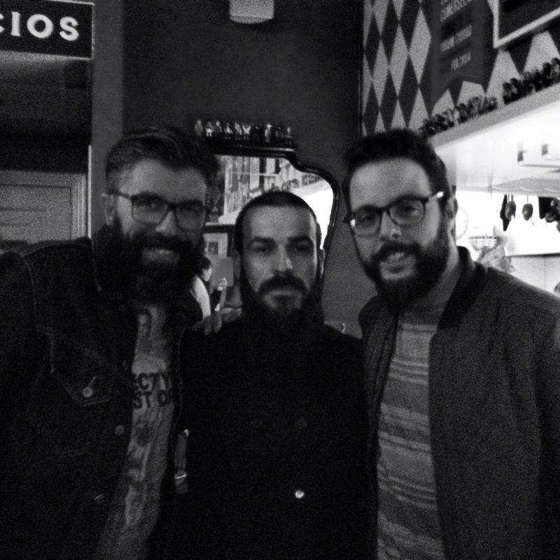 Albertiño, Xabi y Carles.
