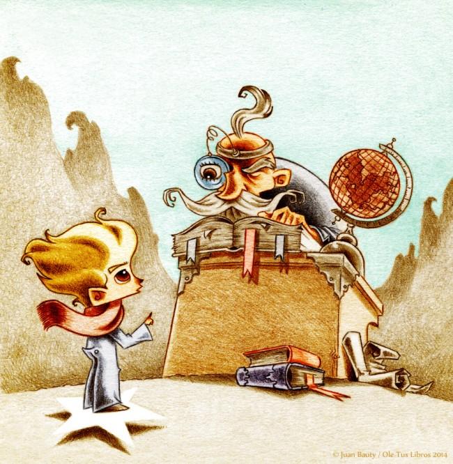 """Ilustración del autor para """"El Principito""""."""
