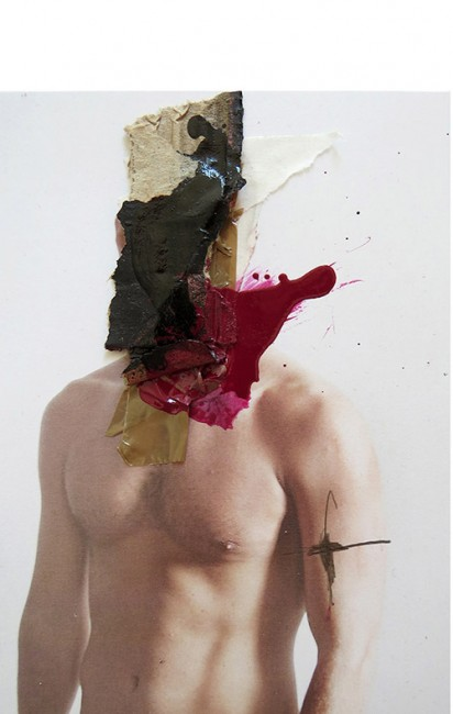 MAD FACE 106 MIXED MEDIA:COLLAGE ON PHOTO. 15 x 20 cm
