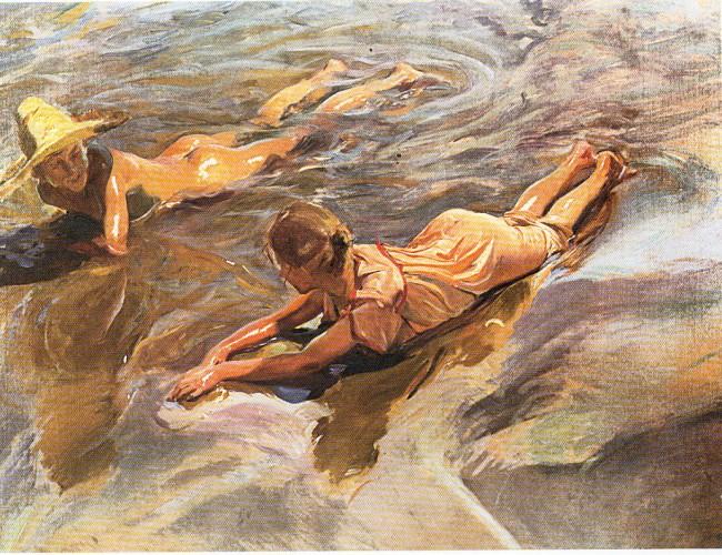 Niños en la playa (1910)