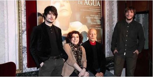 Charo López, Fran García, Antonio Trapote y el director, Yayo Cáceres